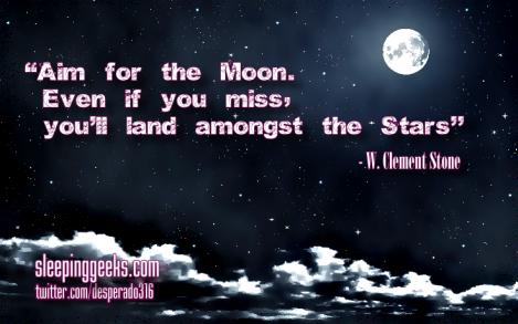 Aim for moon land stars