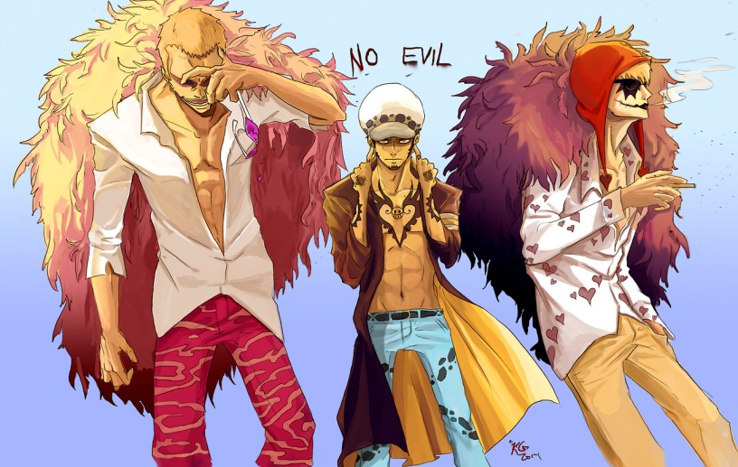 Corazon, Doflamingo, Law